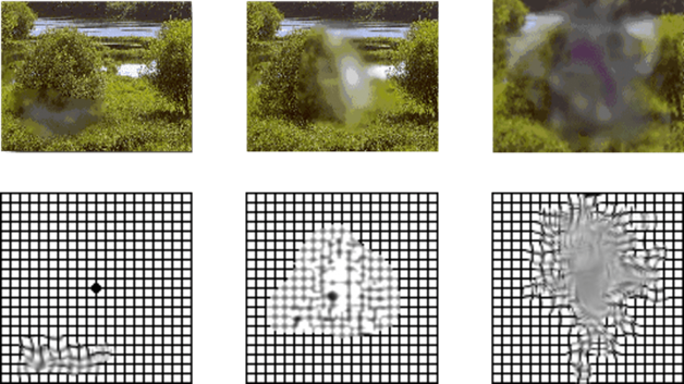 לוח אמסלר - גריד אינדיקציות שונות על תמונה של נוף ועל גבי הלוח